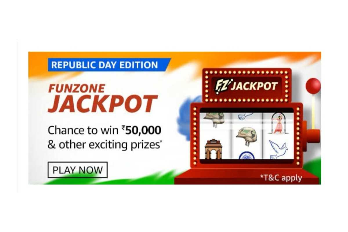 Amazon Republic Day Edition Funzone Jackpot Quiz