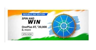 Amazon Republic Day Edition Spin and Win Quiz