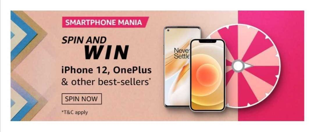 Amazon Smartphone Mania Spin and Win