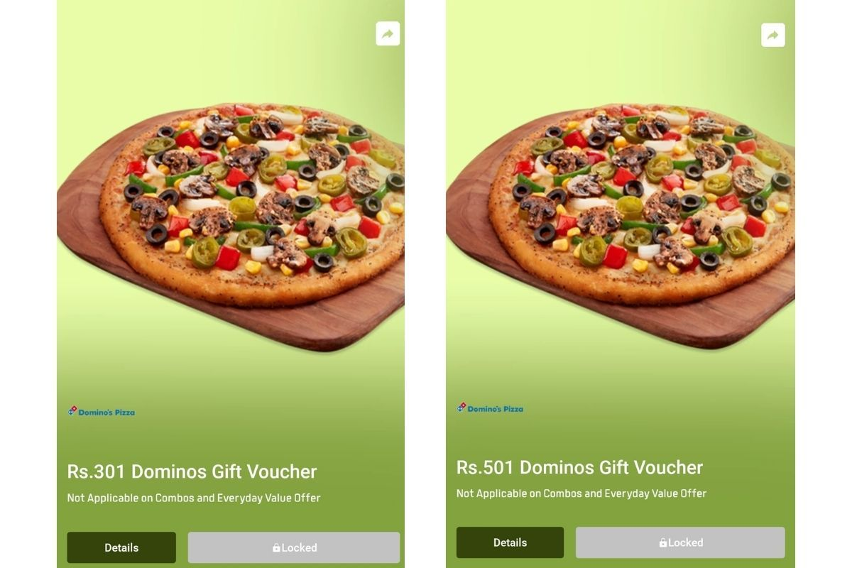 Flipkart Super Coins can now be redeemed for Rs 301 or Rs 501 Dominos Gift Voucher