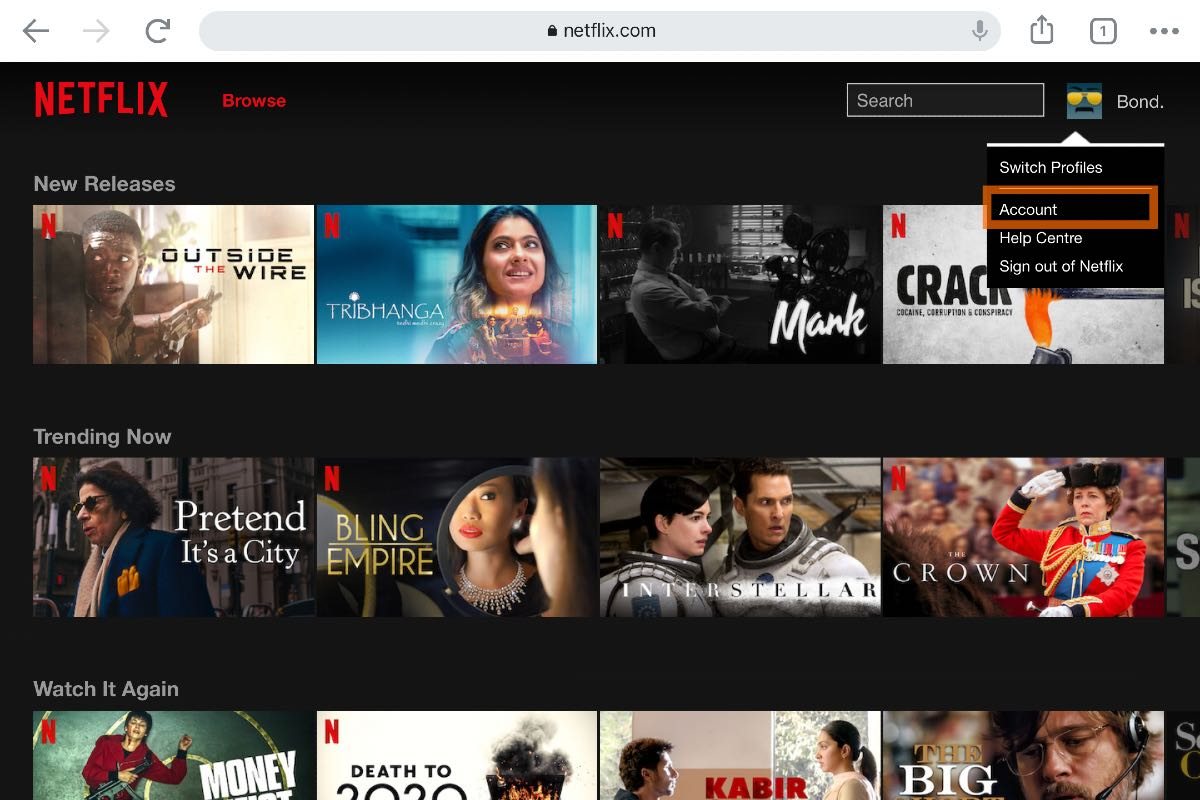 Netflix membership cancel