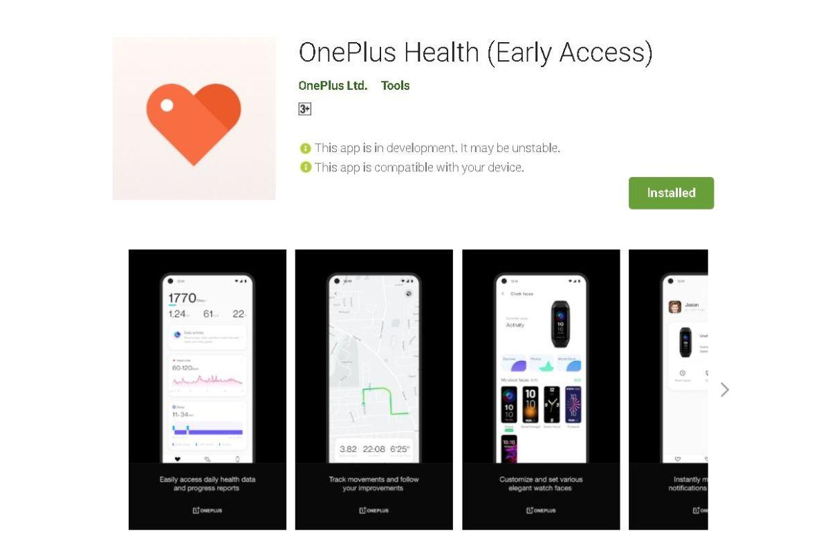 OnePlus Health app