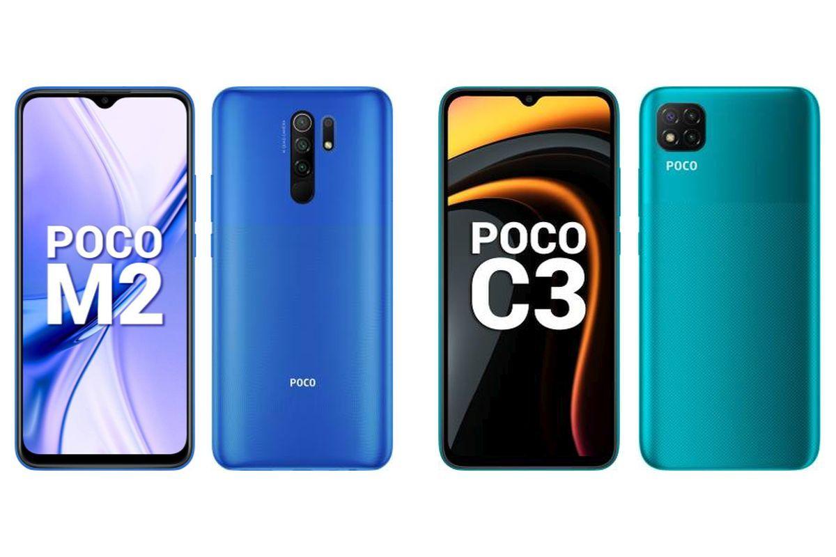 POCO M2 and POCO C3