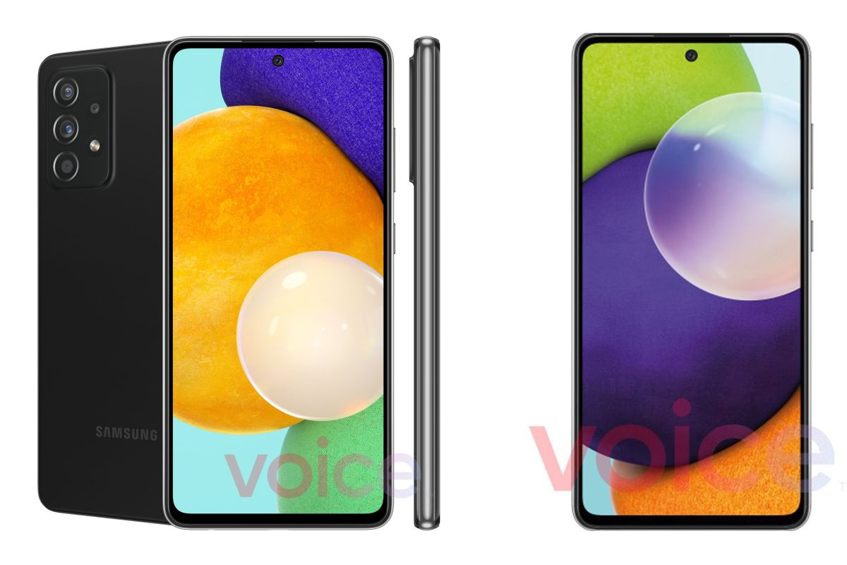 Samsung Galaxy A52 5G and Galaxy A72 5G leaked renders