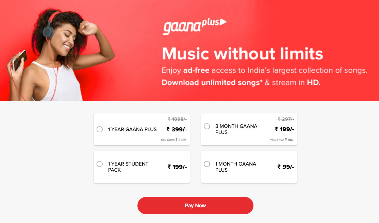 HDFC Credit Card users can avail three months free Gaana Plus subscription