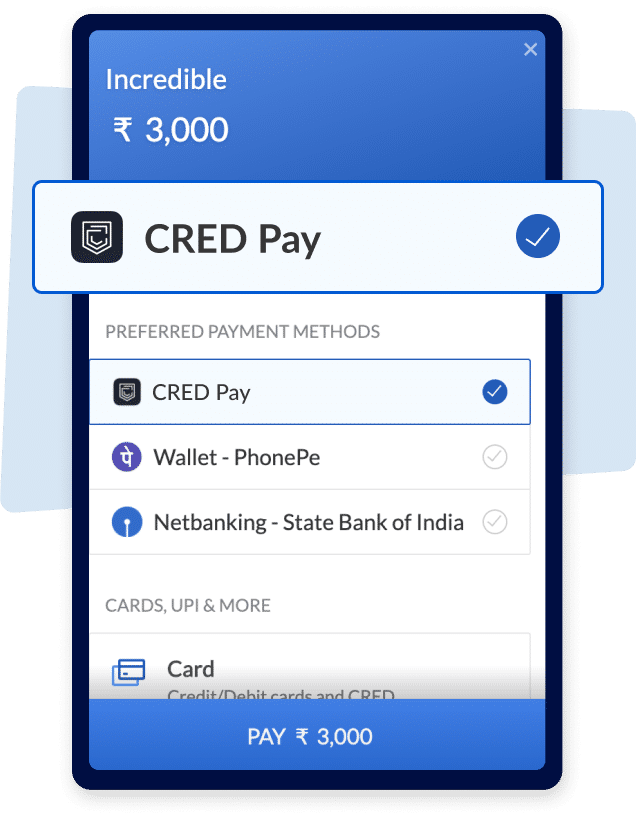 CRED Pay allows users to pay directly on merchant sites