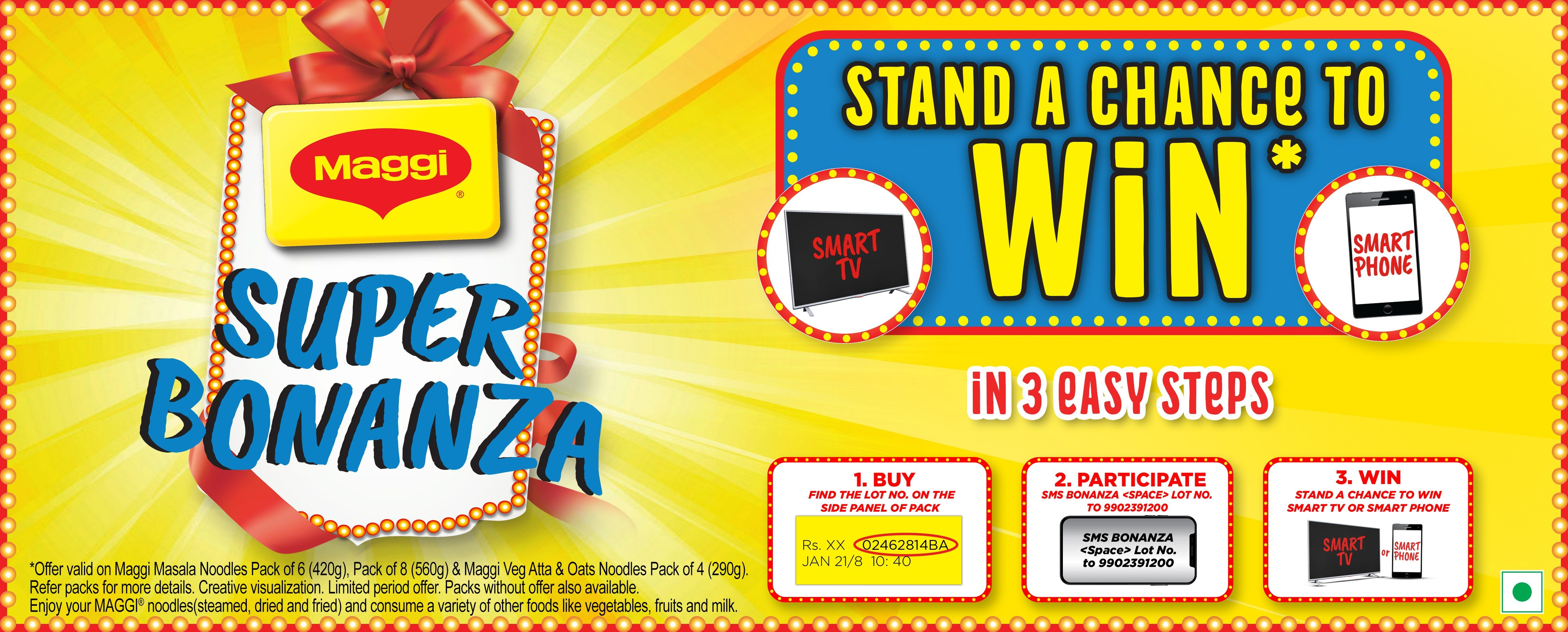 Win Samsung Galaxy A21s or Samsung Smart Tv with Maggi Super Bonanza Contest