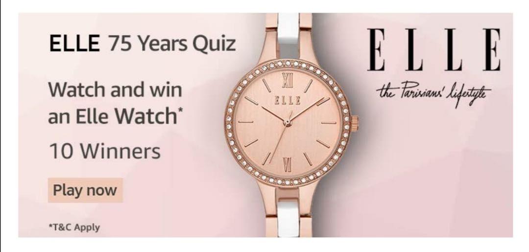 Amazon Elle Quiz