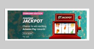 Amazon February Edition Funzone Jackpot Quiz