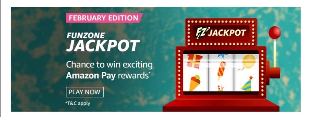 Amazon February Edition Funzone Jackpot Quiz