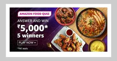 Amazon Food Quiz