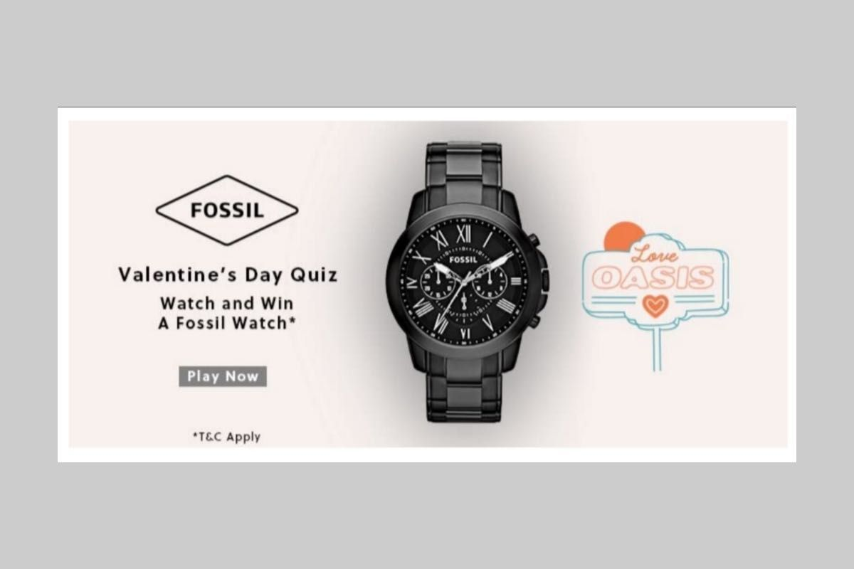 Amazon Fossil Valentine's Day Quiz