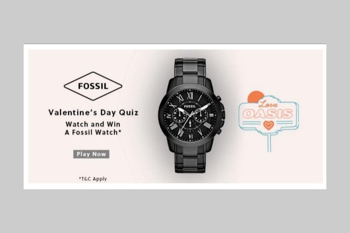 Amazon Fossil Valentine's Day Quiz