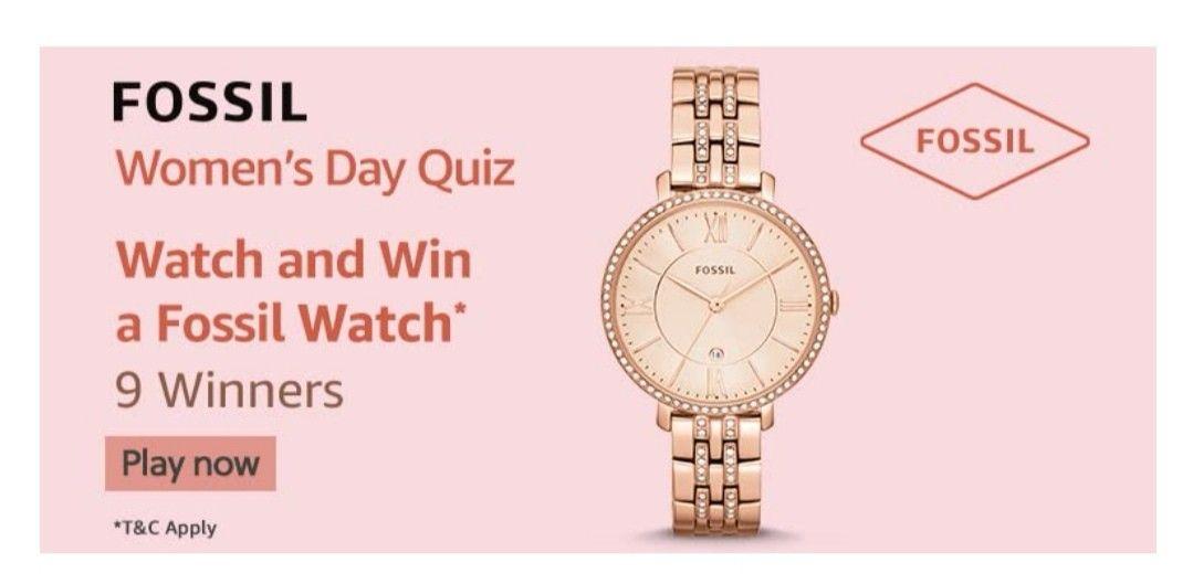 Amazon Fossil Women's Day Quiz