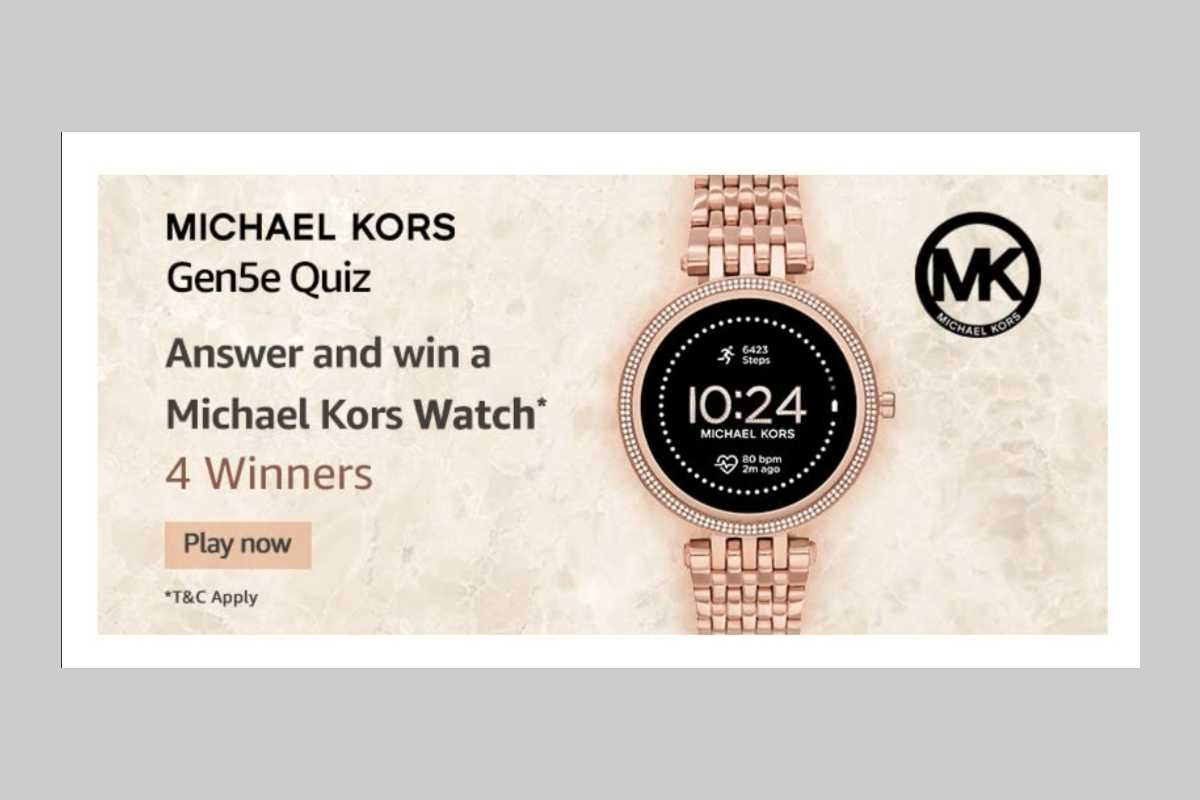 Amazon Michael Kors Gen5e Quiz