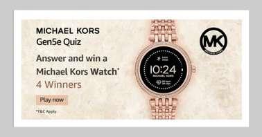 Amazon Michael Kors Gen5e Quiz
