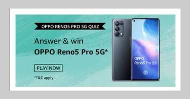 Amazon OPPO Reno5 Pro 5G Quiz