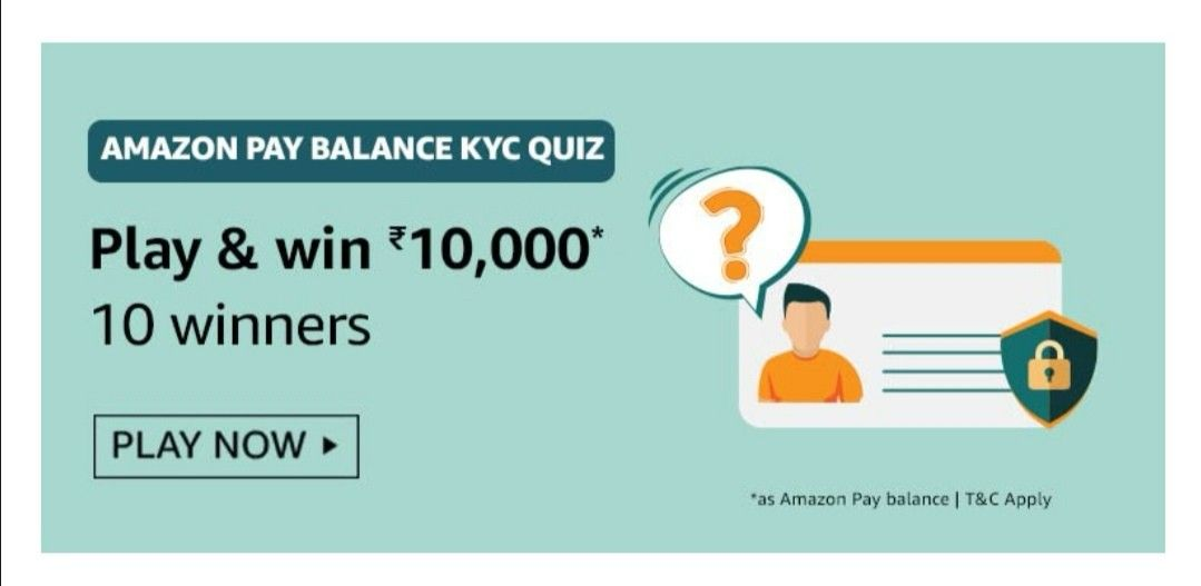 Amazon Pay Balance KYC Quiz