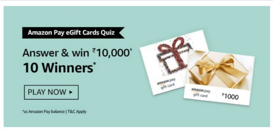 Amazon Pay eGift Cards Quiz