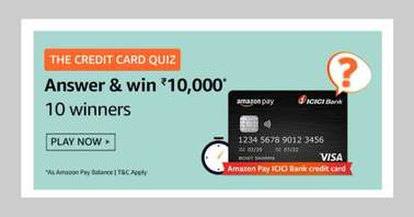 Amazon The Credit Card Quiz