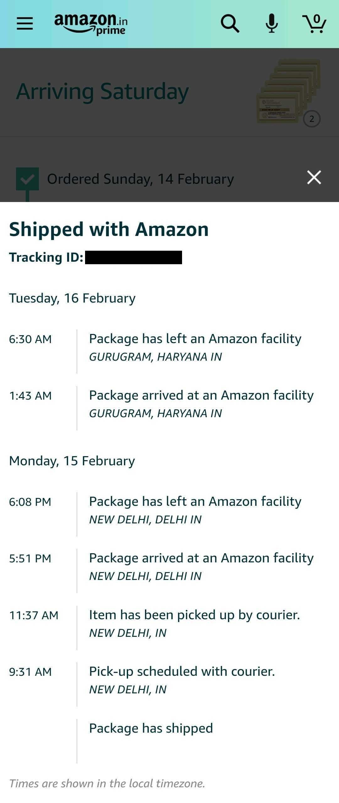 Amazon Track Package