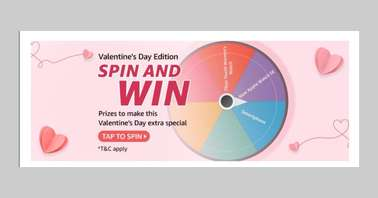 Amazon Valentine's Day Edition Spin and Win Quiz