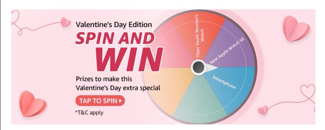 Amazon Valentine's Day Edition Spin and Win