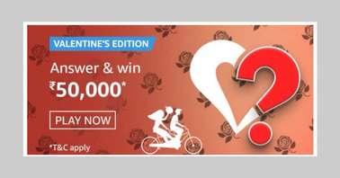 Amazon Valentine's Special Edition Quiz
