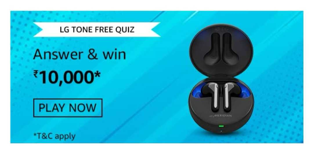 Amazon LG Tone Free Quiz