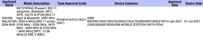 Xiaomi Mi 11 Lite SIRIM
