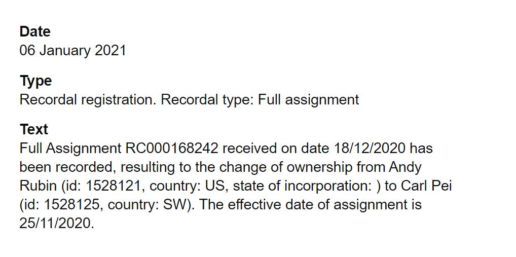 UK Intellectual Property office filing