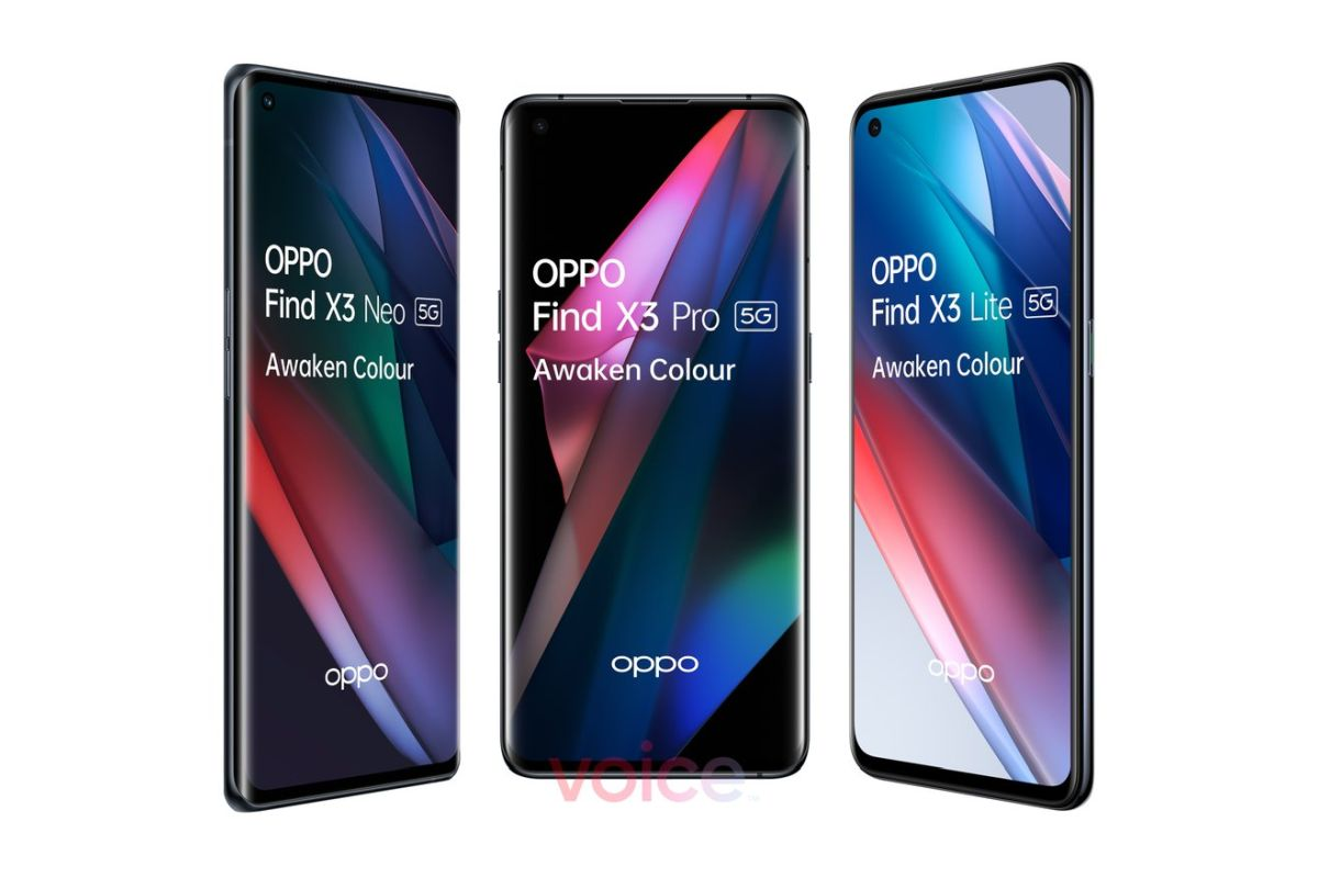 OPPO Find X3 Pro, Find X3 Lite, and Find X3 Neo