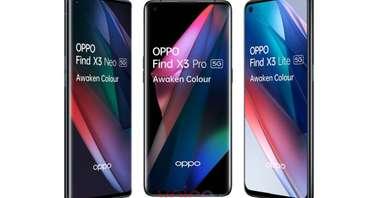OPPO Find X3 Pro, Find X3 Lite, and Find X3 Neo