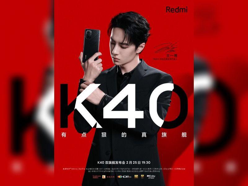 Redmi K40 Poster Back Design