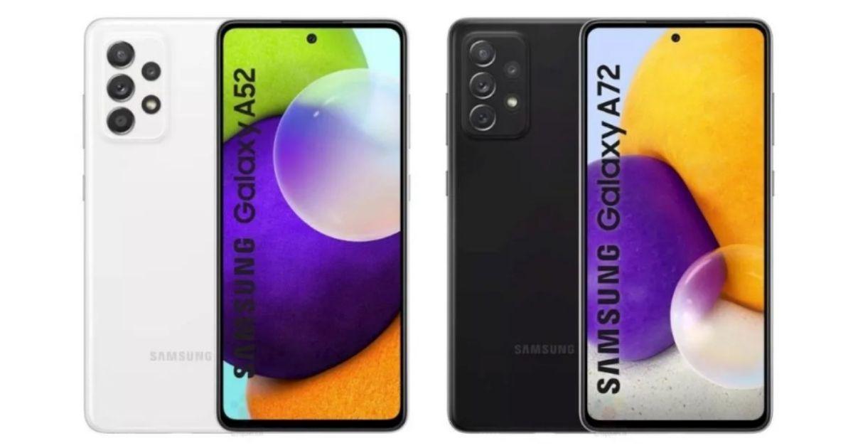 Samsung Galaxy A52 and A72
