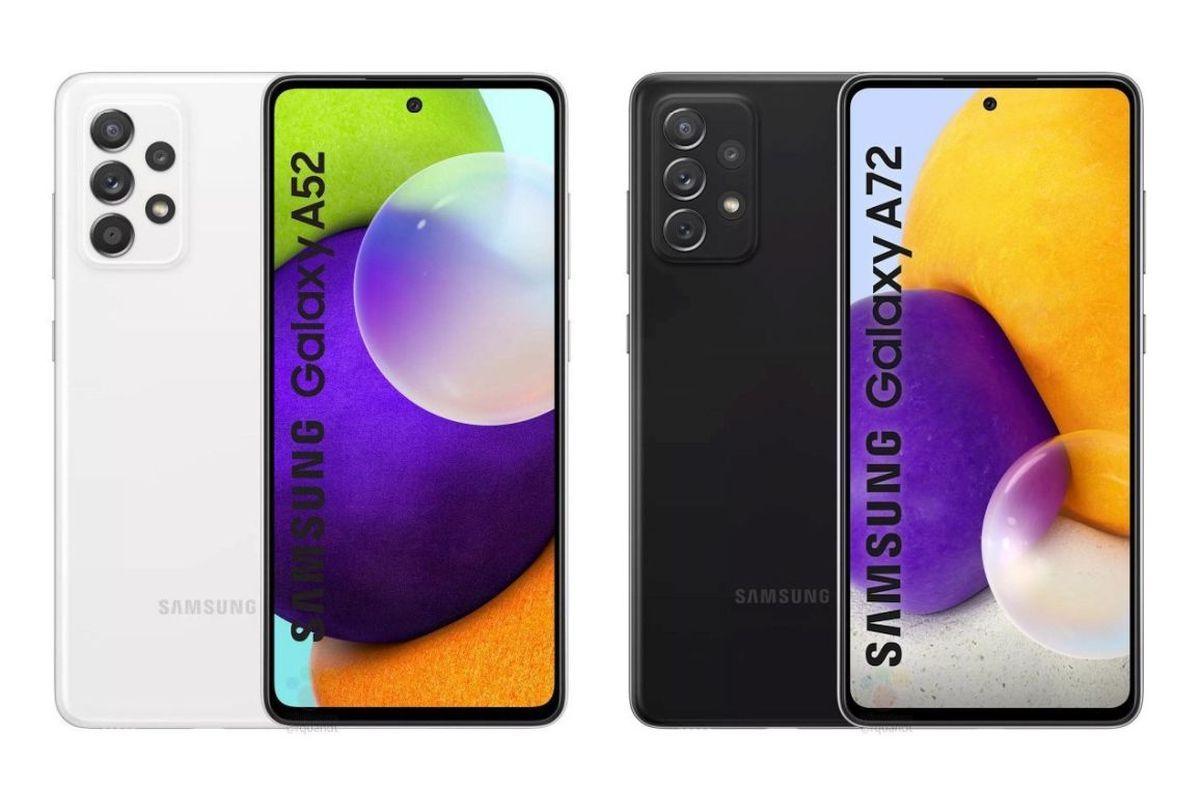 Samsung Galaxy A52 and Galaxy A72