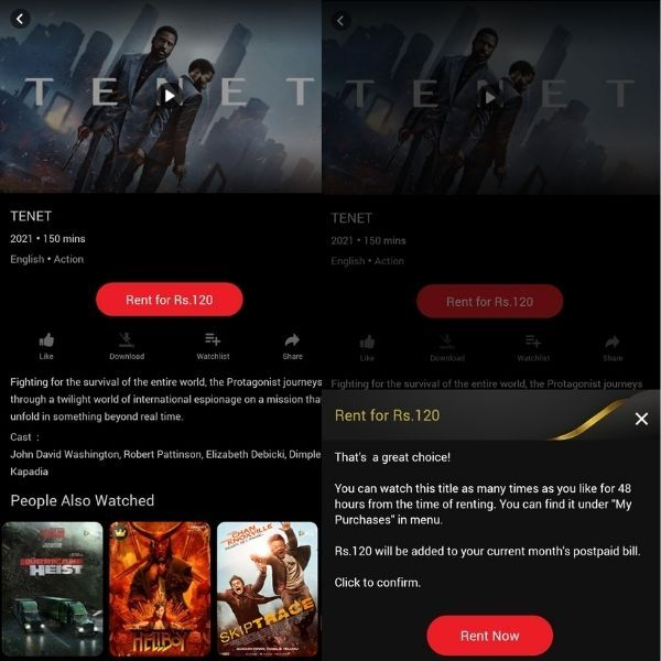 Vi now lets users rent premium movies on Vi Movies & TV app