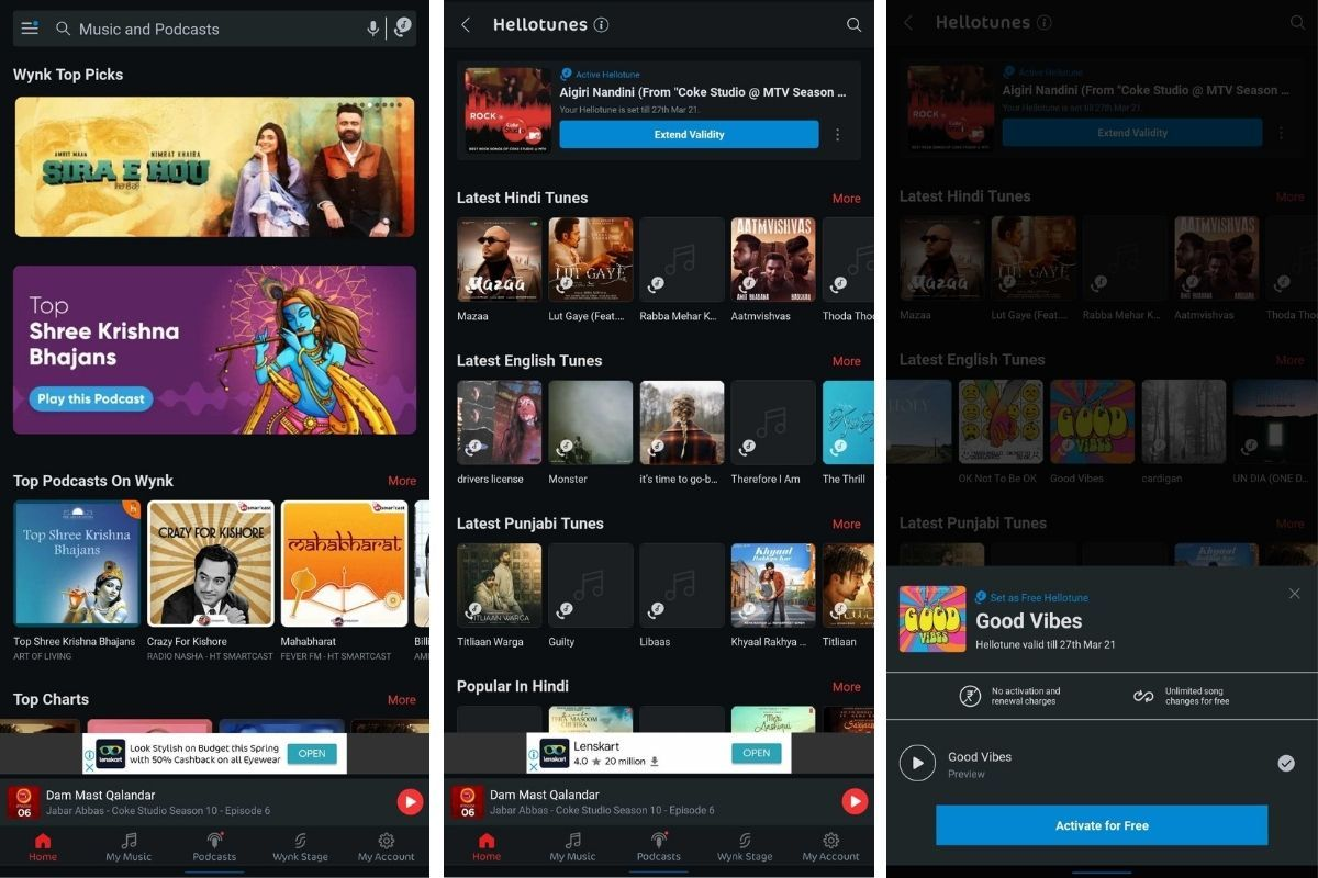 Airtel users can set Hellotune conveniently from Wynk Music app