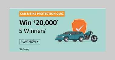 Amazon Car and Bike Protection Quiz