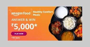 Amazon Food Healthy Comfort Meals Quiz
