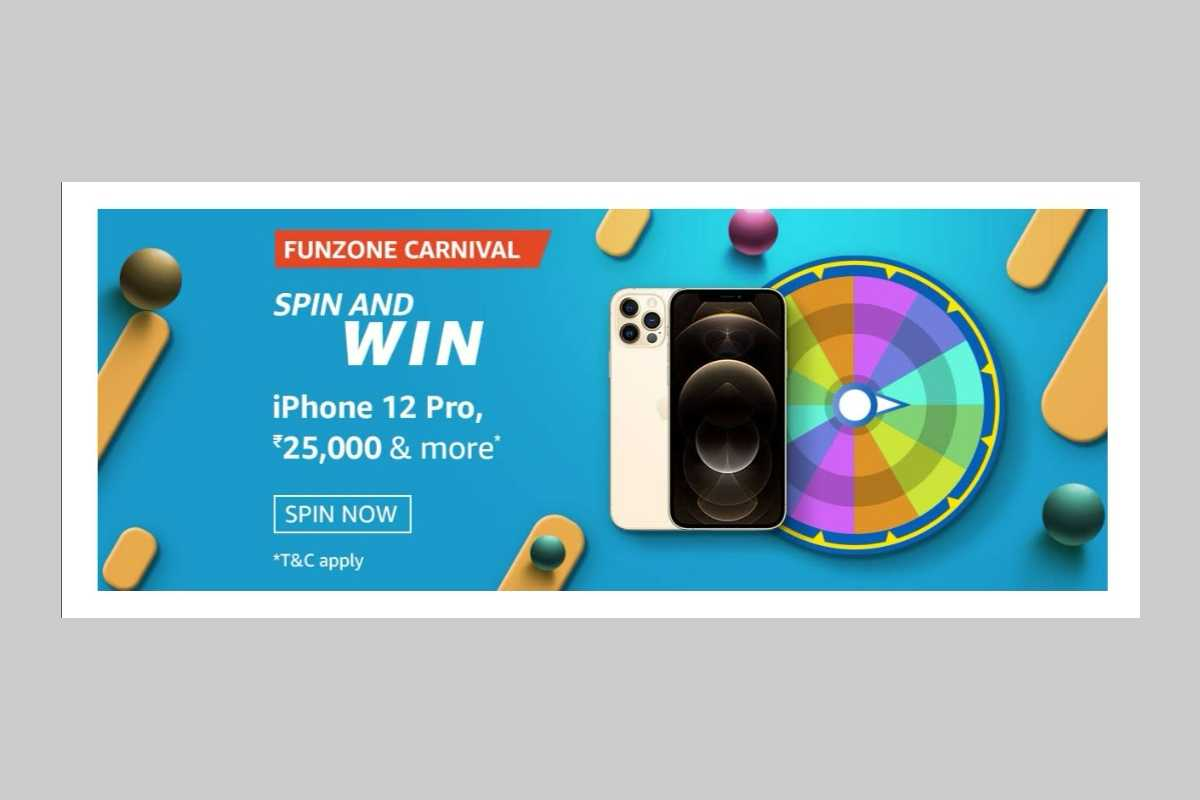 Amazon Funzone March Carnival Spin and Win Quiz