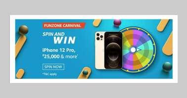 Amazon Funzone March Carnival Spin and Win Quiz