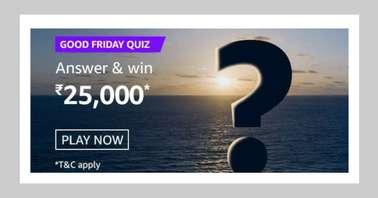 Amazon Good Friday Quiz