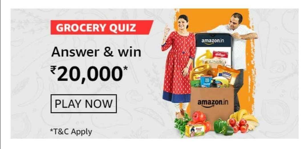 Amazon Grocery Quiz