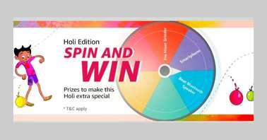 Amazon Holi Edition Spin and Win Quiz