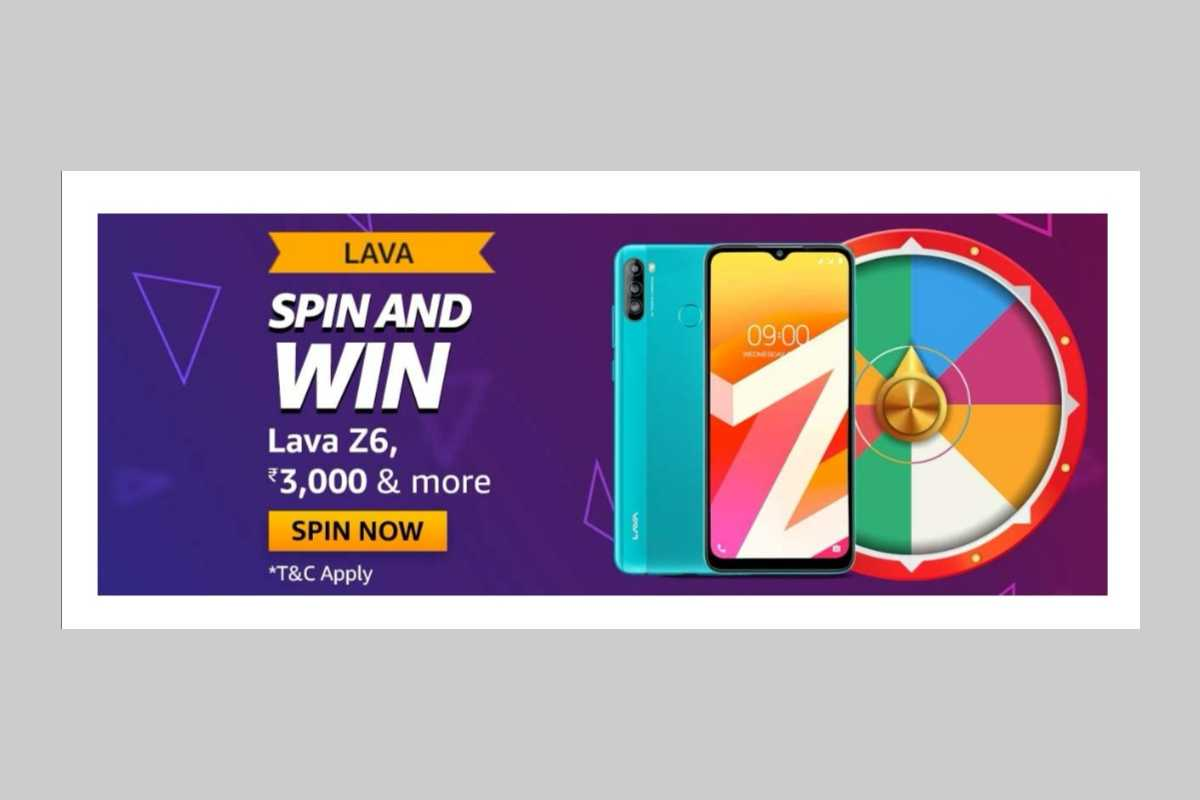 Amazon Lava Z6 Spin and Win Quiz