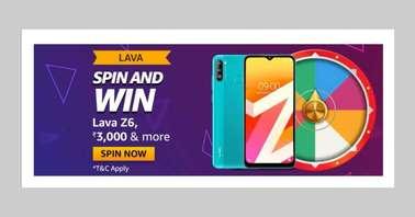Amazon Lava Z6 Spin and Win Quiz
