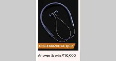 Amazon Mi Neckband Pro Quiz