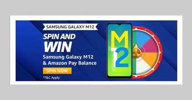 Amazon Samsung Galaxy M12 Spin and Win Quiz