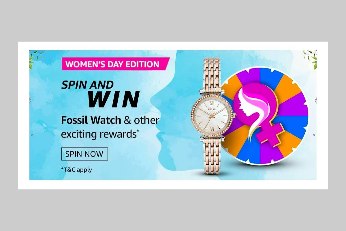Amazon Women's Day Edition Spin and Win Quiz
